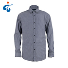 High quality long sleeve men solid color 100 cotton oxford shirt