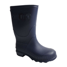Kids Boys Girls Mid Calf PVC Rain Snow Boots Wellies Wellingtons Wellys