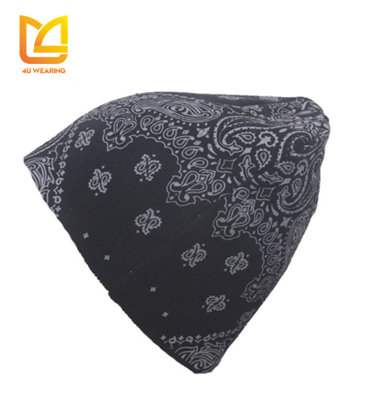 New china manufacturer custom printed hat sublimation the beanie