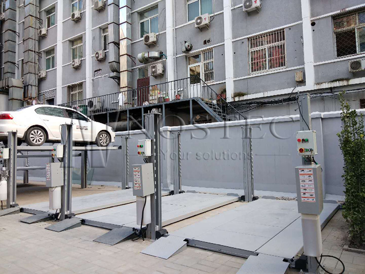 4 post car parking lift