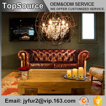 Fashion Style Inner Wooden Frame Luxury Leather Sofa Furniture