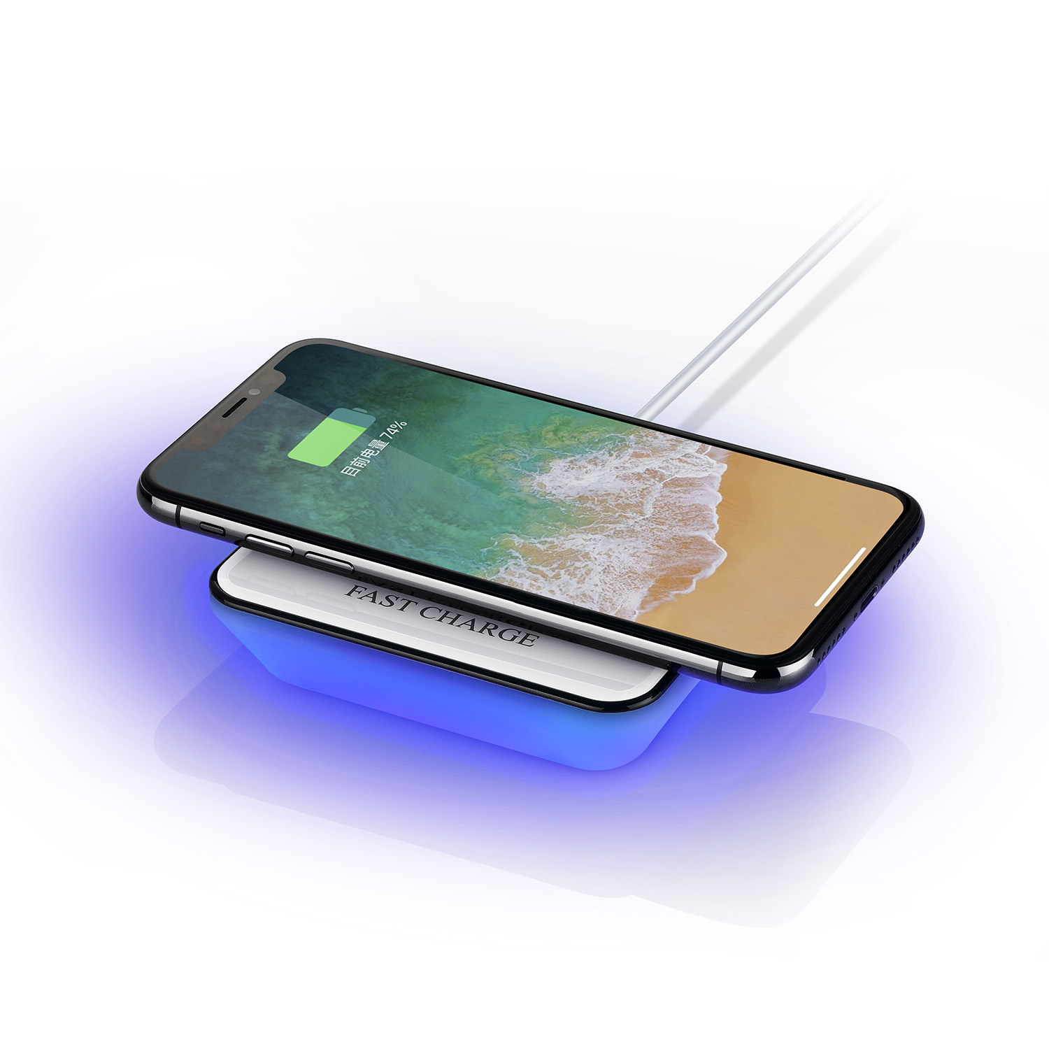 High quality newest design wireless charger night light charger unique portable charger for cell phone use