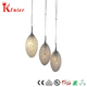 Designer modern iron crystal eggs pendant lamp