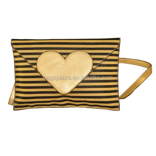 2016 Best Newest design bag lady envelope clutch bag purse with streak CL8-053