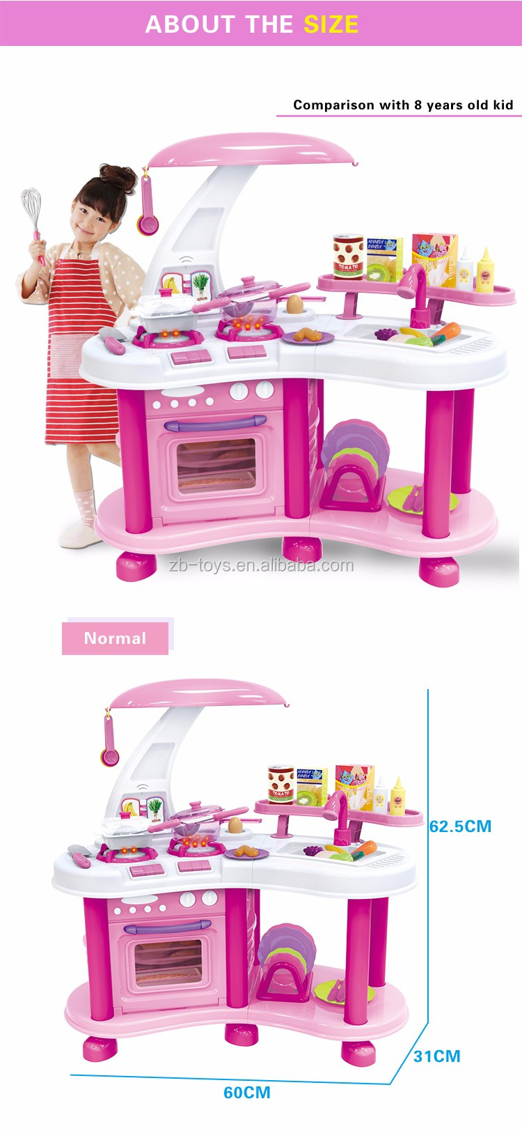Hot Sale Beautiful Lighted Musical Kids Kitchen Play Set - Buy ...