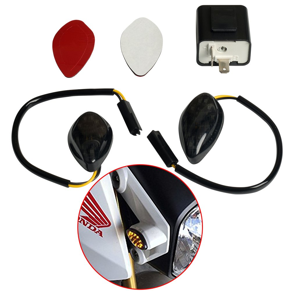 Cheap 11 Pin Relay Find Deals On Line At Alibabacom Dpdt 110vac 10a 8 Octal Power Circuit Diagram Get Quotations Perfect Fit Honda Grom 2014 2017 Amber Flush 12 Led Turn Signals 2
