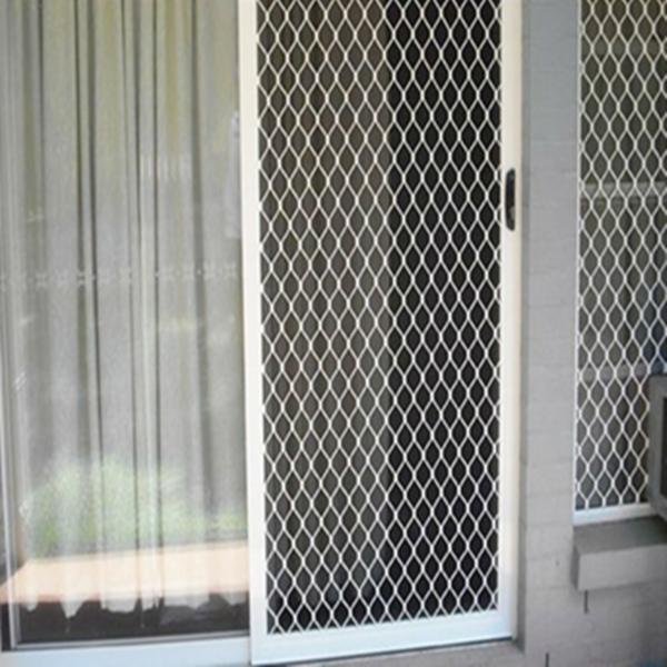 Panel de malla met lica para puerta perfiles de aluminio - Mallas de hierro ...