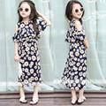 2016 Girls Flower Dress Beach Dress Strapless Dress Comfortable Summer Fashion Street Shoot High quality Children