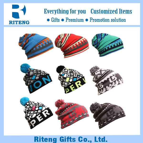 Export funny wool knitted beanie winter hat