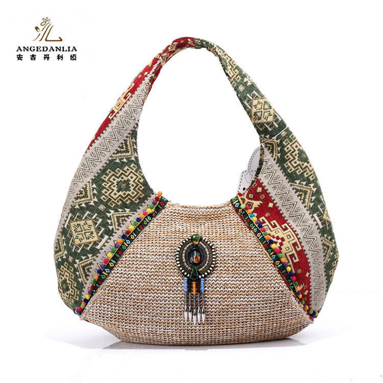 Classical designer handbags 2017 linen fabric handbag brand new ladies  handbag c7c64dc50d0f1