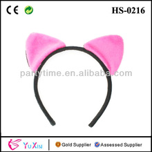 Wholesale Halloween Pink Cats Ears Alice Bands