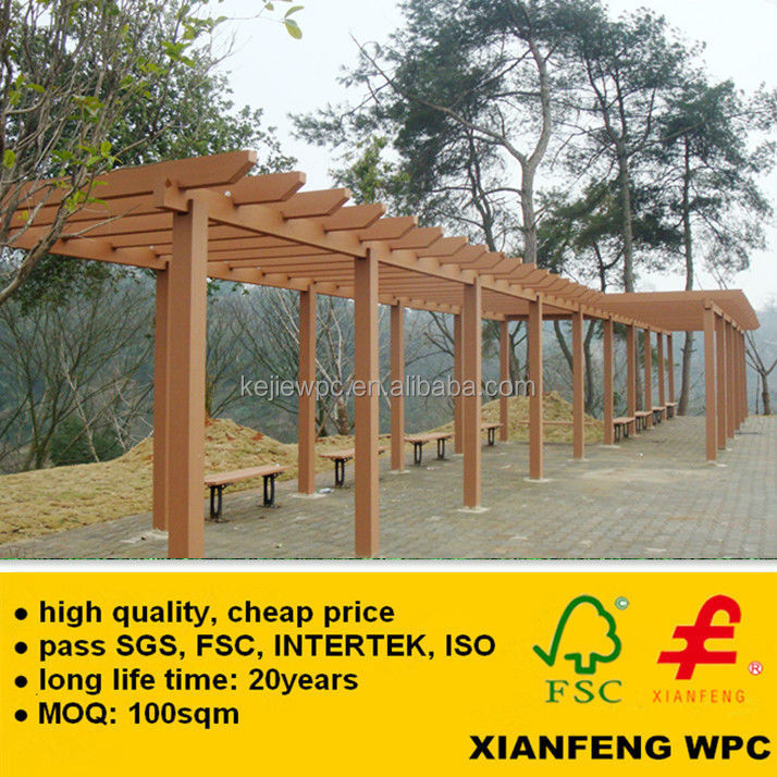 De beste in de fabriek waterdicht anti uv wpc pergola pergola hout kunststof composiet planken - Bank voor pergola ...