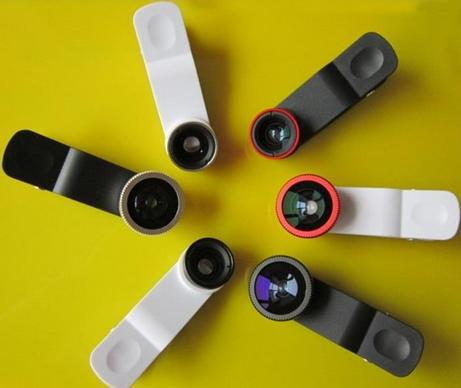 For iphone lense 0.67x Cellphone 3 in 1 Camera Lenses On Clip For Iphone 5 5s 6 6 plus Fisheye Cellphone Lens