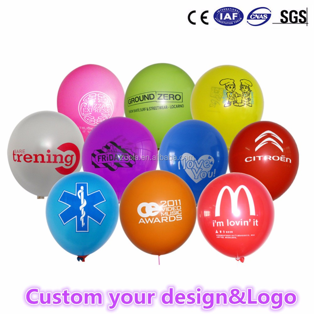 Custom latex balloons with your Logo for advertisement holiday promotion