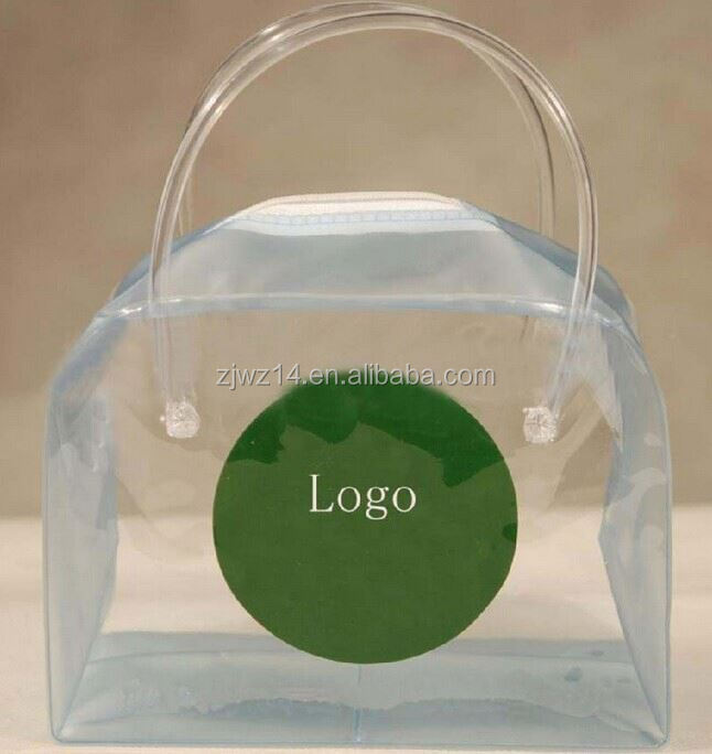 2015 cheap promotional clear garment pvc bag with hook pvc bag cosmetic bag