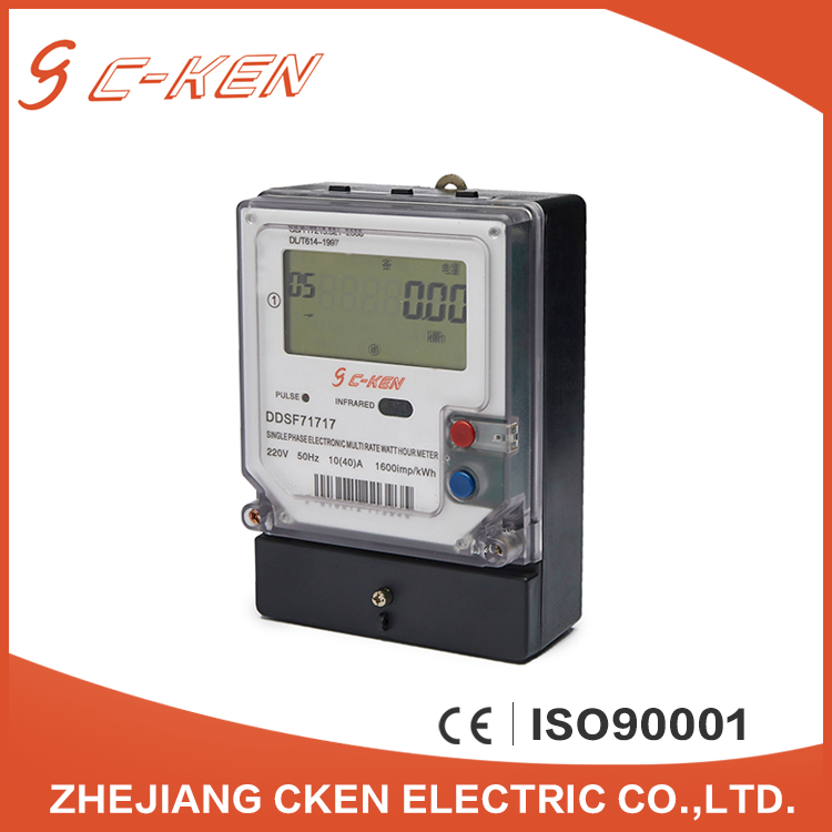 Cken 2016 China 220V 50Hz LCD Single Phase Energy Meter Electric Multirate Type Watt-hour Meter Price , Kwh Meter
