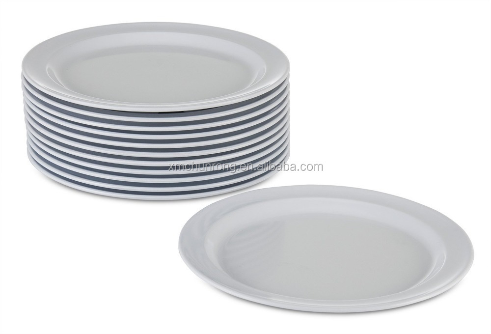 Melamine Plates Dinnerware Set Kitchenware Dinner Plastic Dishwasher Safe Dish