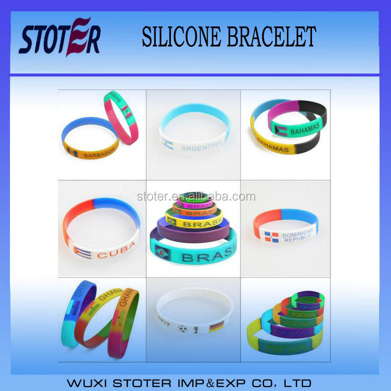 Cheap rainbow gay pride bracelet silicone wristbands