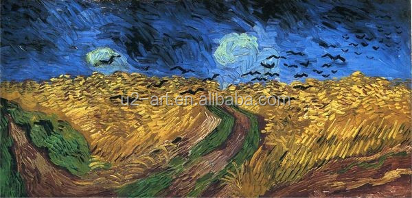 Wheat field with Crows by Van Gogh reproduction painting
