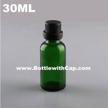 200*30 ml glass bottle green pure clear white coarse grain security caps drops repackaging skincare cosmetics