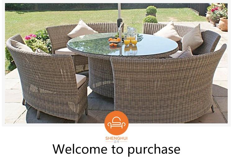 Big Round Shape Garden Black Table Rattan Sofa Outdoor Semi Circle Furniture Buy Rattan Sofa