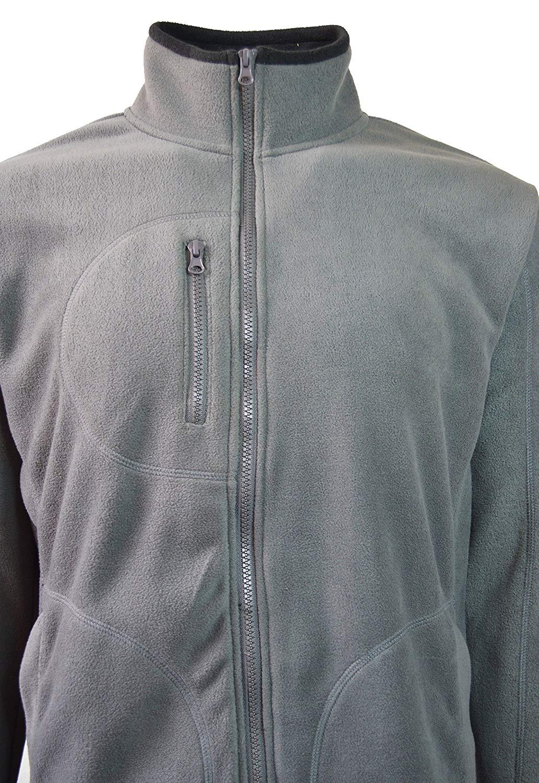 17bdfffa75e0b Get Quotations · Maximos Men s Fleece Jacket Windproof Water-Resistant  Outdoor Athletic Garment Grey