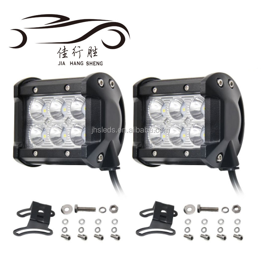 JHS Factory Supply Led Auto 18W führte Arbeitslicht Runde Offroad Auto Led Work Light 6led Led Scheinwerfer Led Driving Licht
