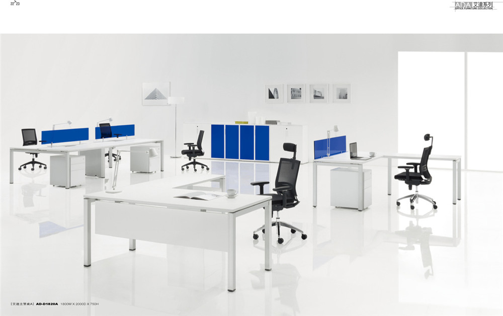 Open Acrylic 2 Person Office Desk Workstation Office Furniture ...