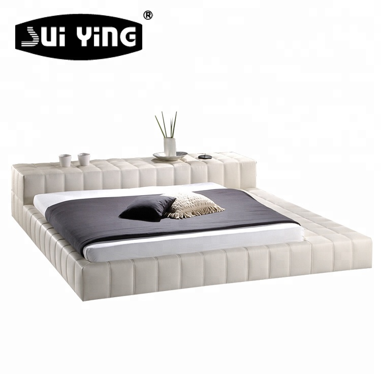 Japanese Style House Furniture King Size Tatami Leather Bed Frame