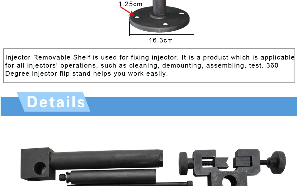 Common Rail Injector Assembling Flip Stands Fuel injecion Roll-over Stand