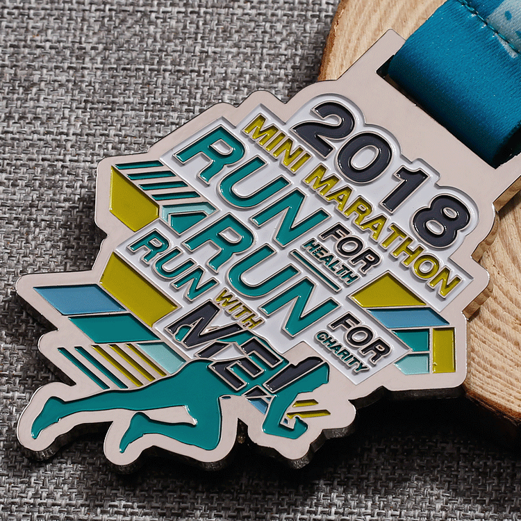 Custom made own design 5km metal fun running marathon medals