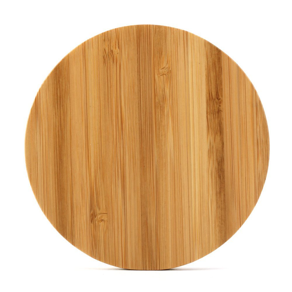 Shenzhen factory wholesale protable Qi wireless bamboo wood charger for iphone samsung