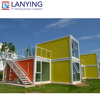low cost DIY beach house style modern container duplex kits prefab foldable container house