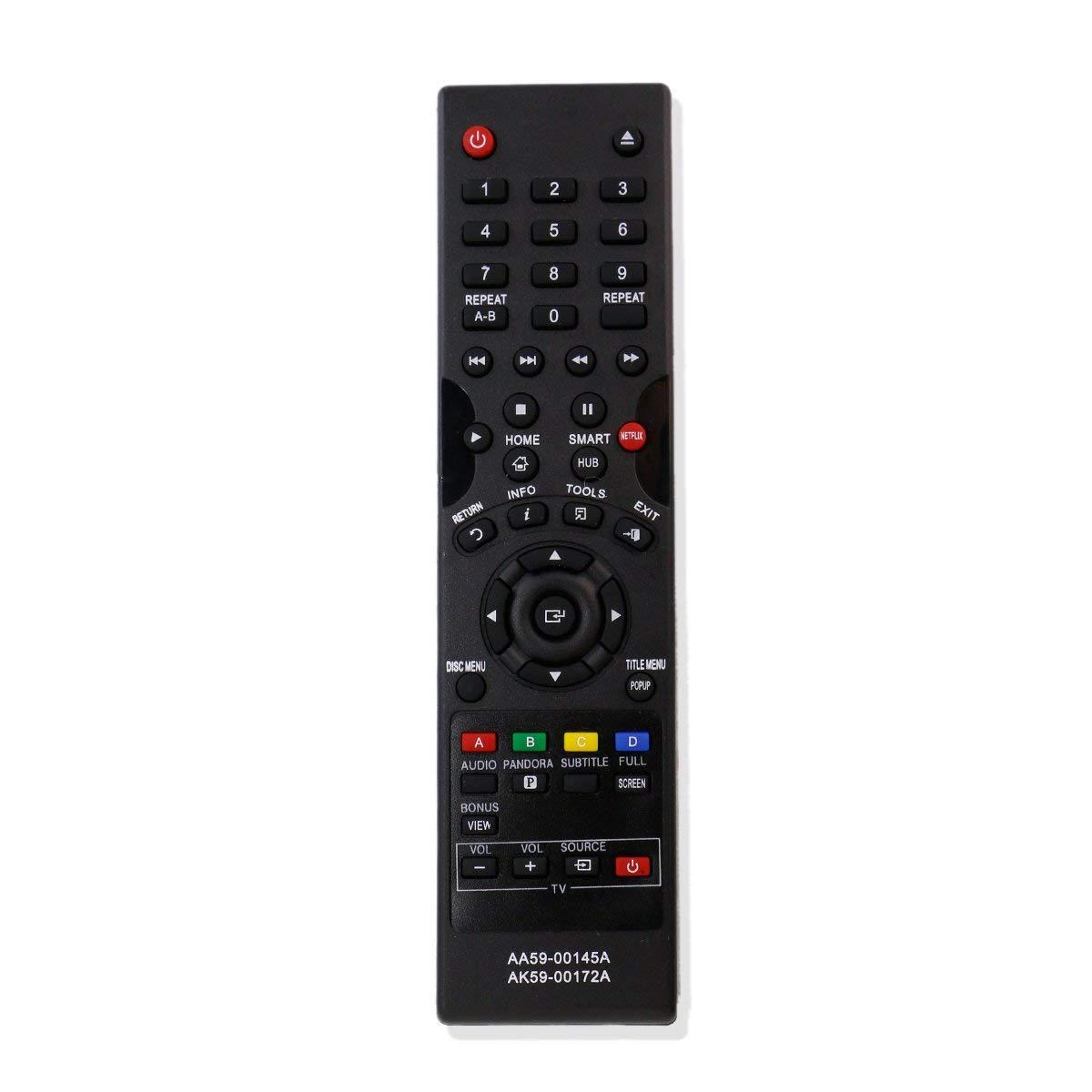 ZdalaMit AA59-00145A AK59-00172A Replacement Remote Fit For Samsung BD Blu-Ray Disc DVD Player BDF5700 BD-P1400 BD-P2500 BD-E5700 BD-E5900 BD-EM57 BD-EM57C BD-EM59 BD-EM59C BD-ES6000