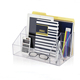 Custom Acrylic Office Desk Organizer, Clear Pen Holder, Notebook Mail Storage Box