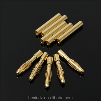 2mm Gold Bullet Connectors//Banana plugs for rc car//truck//drone
