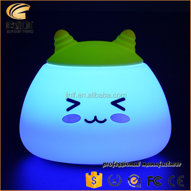 Silicone table lamp 7-color changing night light, toys for kids