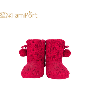 Indoor Knitting warm fur lined ladies winter thermal boots