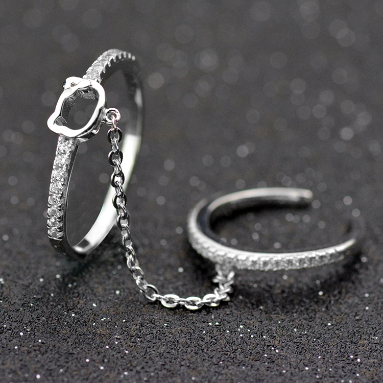 Wholesale 100% Genuine Fashion Cz Diamond Ring Clit Ring Jewelry ...