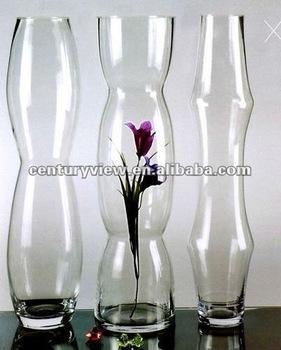 Tall Clear Gl Floor Vases
