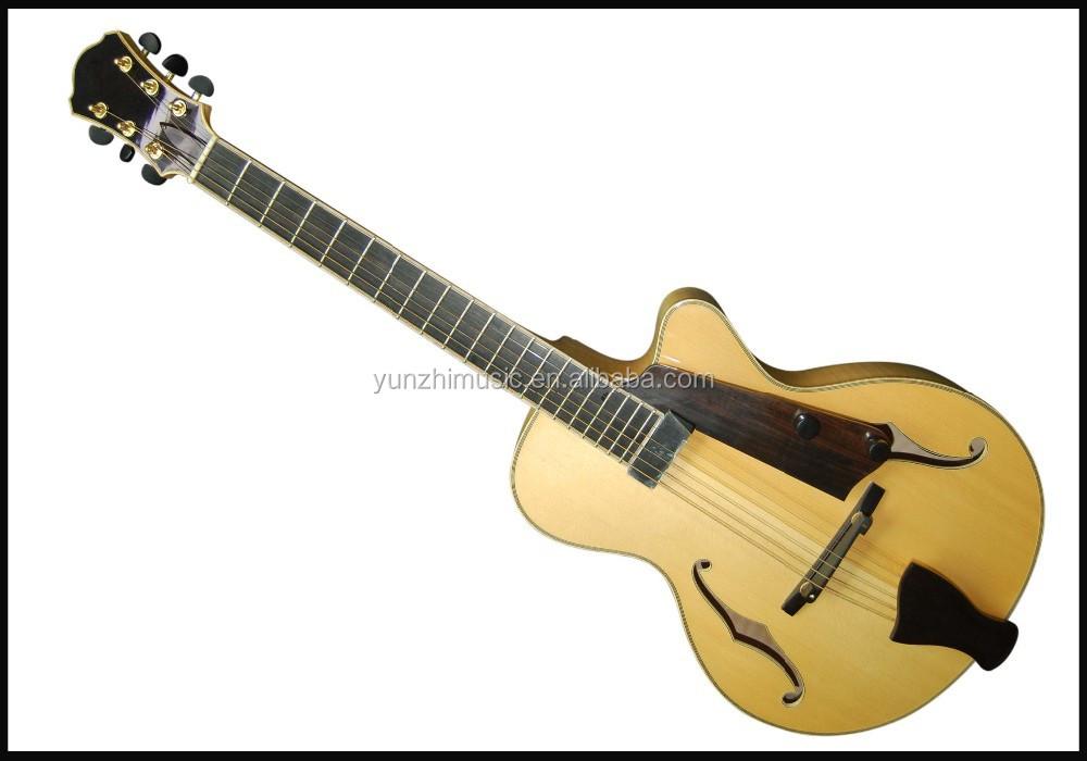 Yunzhi 14inch Fully Handmade F Hole Solid Wood Jazz Guitar For ...