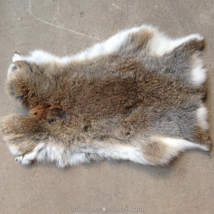 Natural Brown percé de fourrure de lapin d/'oreiller