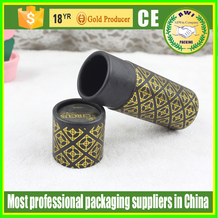 black biodegradable cardboard paper tube manufacturers Oval Paper Cosmetic Container