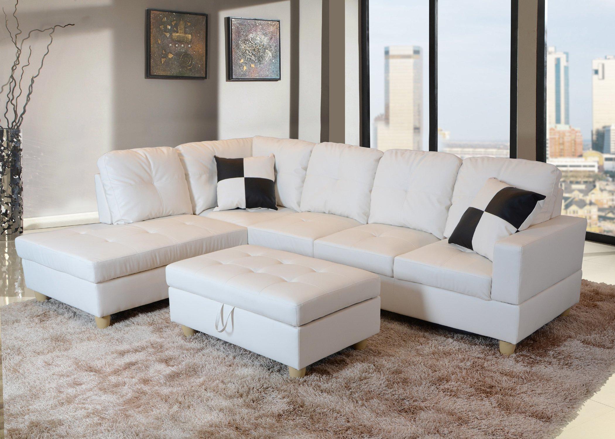 Incredible Buy 3 Pcs Sectional Set Faux Leather Caramel Espresso Color Spiritservingveterans Wood Chair Design Ideas Spiritservingveteransorg