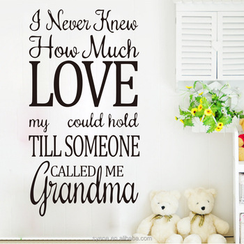 3d Art Vinyl Custom Quotes House Rule Wall Stickers I Never Knew Home Much  Love Letters Part 98