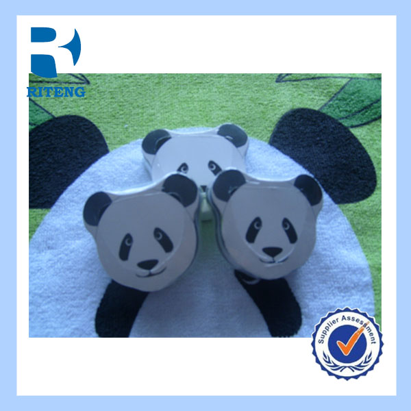 wholesale bulk children panda cartoon character compact towel