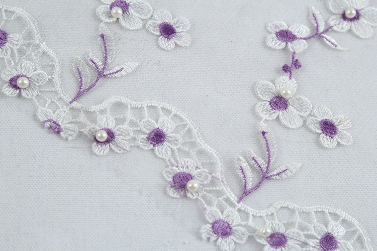 shopping elegant tulle lace plain embroidery fabric with pearls