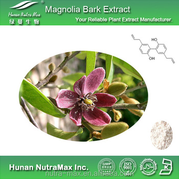 Magnolia Bark Extract 10%,90%,95% honokiol +Magnolol help control stress and anxiety,antioxidant