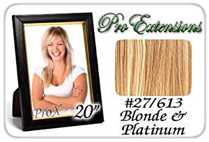 "Pro Extensions 20"" x 39"" #27/613 Golden Blonde w/ Platinum Highlights 100% Clip on in Human Hair Extensions"