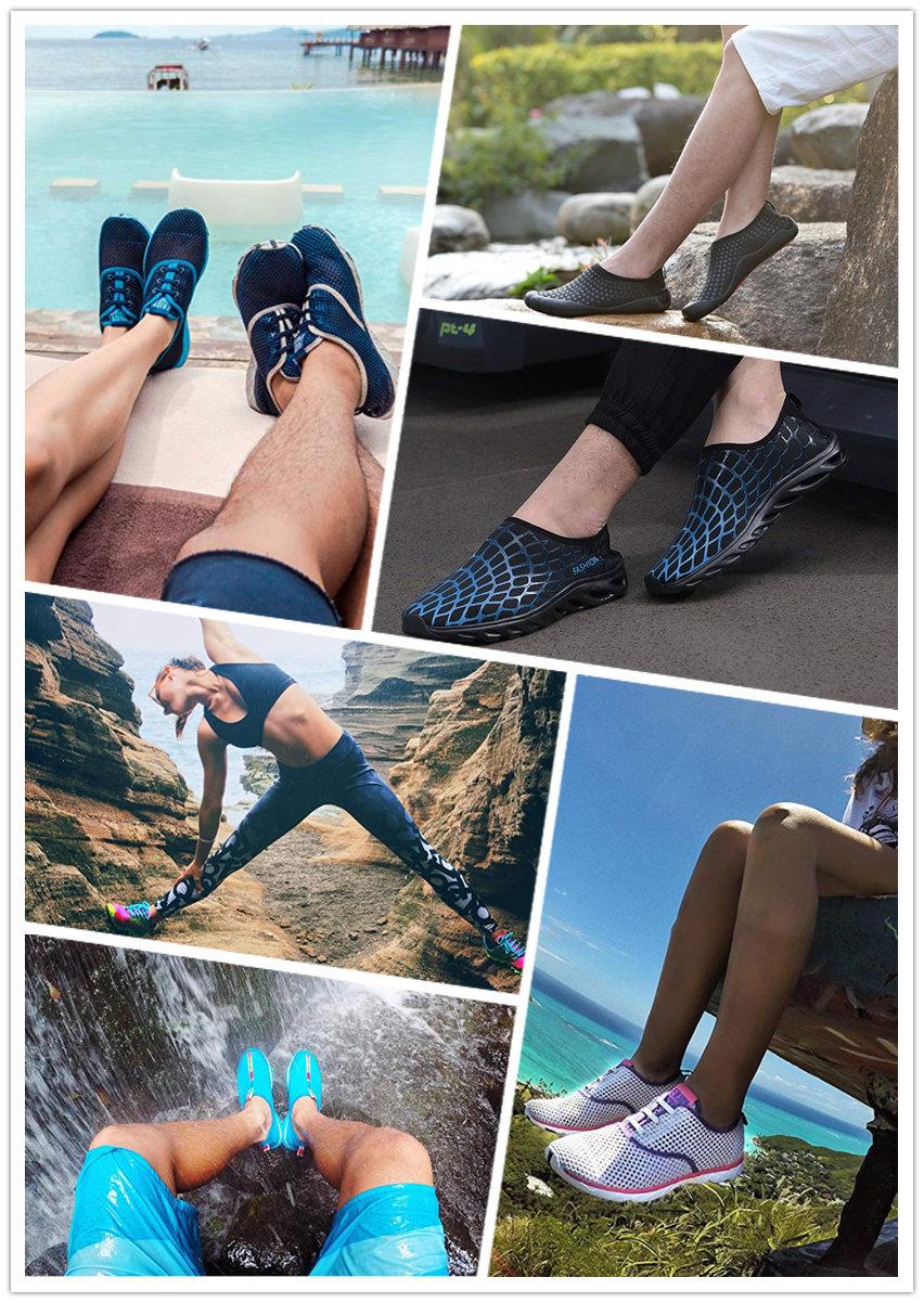 Verão descalço quick-dry aqua yoga meias slip-on sapatos de esportes de água para homens mulheres crianças
